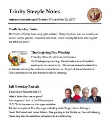 thumbnail of November 12, 2017 Steeple Notes