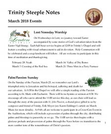 thumbnail of March 2018 Steeple Notes Newsletter