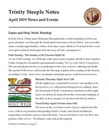thumbnail of April 2019 Steeple Notes
