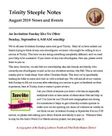 thumbnail of August 2019 Steeple Notes