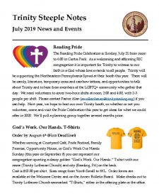 thumbnail of July 2019 Steeple Notes