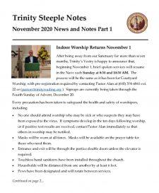 thumbnail of November 2020 Steeple Notes Pt 1