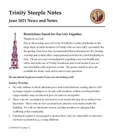 thumbnail of June 2021 Steeple Notes
