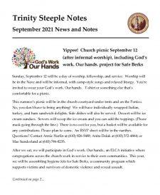 thumbnail of September 2021 Steeple Notes